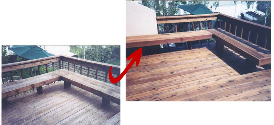 Deck with Corner Bench
